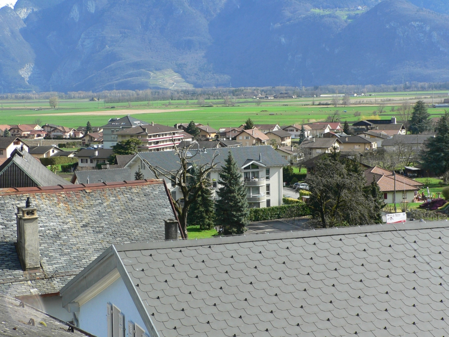 Les villages de la commune de Vionnaz